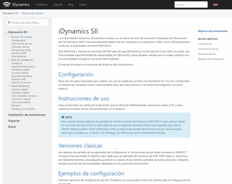 Documentación iDynamics